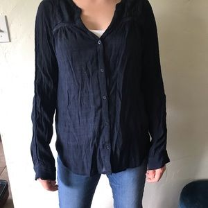 Gap Long-sleeve Navy Blouse (Size L)